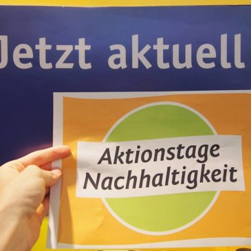 Aktionstage Nachhaltigkeit – 25.5. bis 10.6.2016